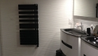 salle de bain noir et blanc carrelage et faience
